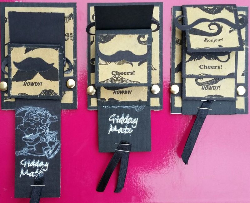 Gidday MAte Moustache ATCs