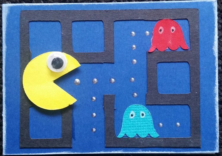 I scored in the 80s PAcman ATC