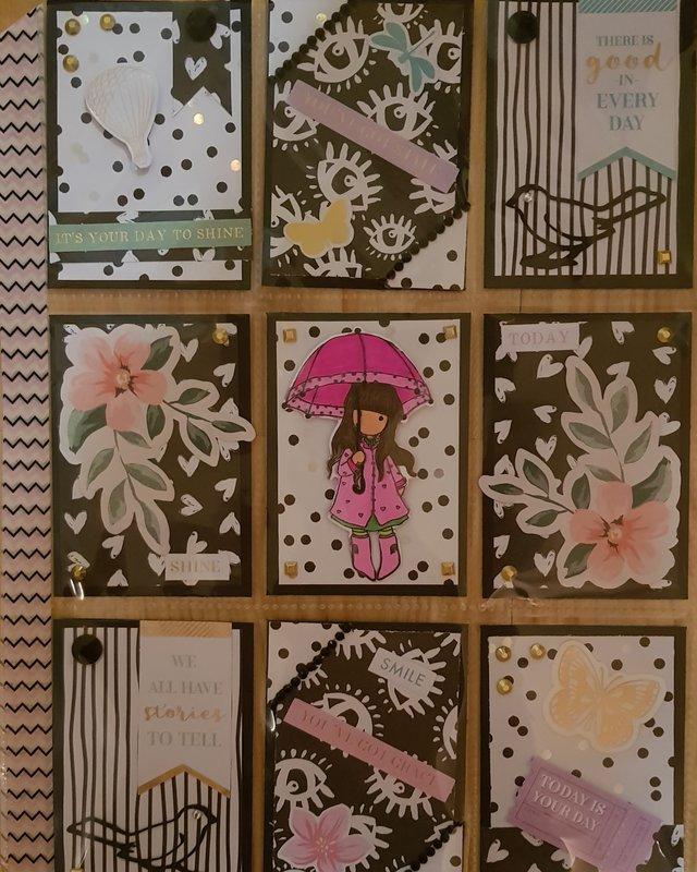 Pink and Black Gorjuss Girl Pocketletter