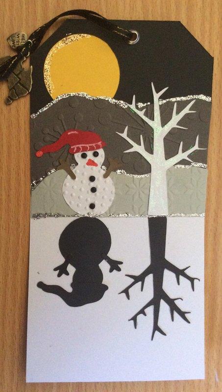 Reflected Snowman Tag