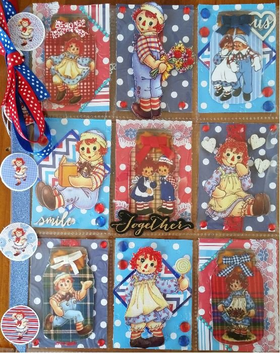 Raggedy Anne and Andy Pocketletter