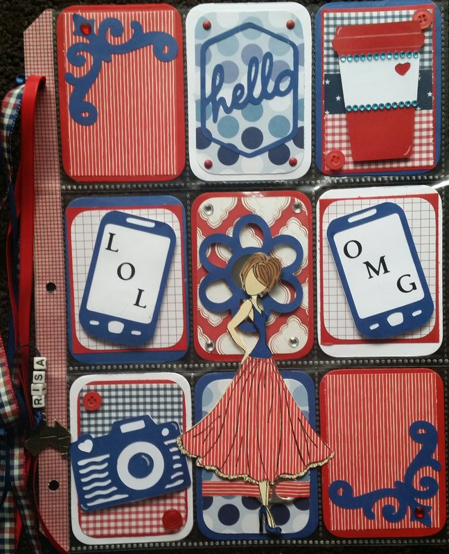 Red White and Blue Pocket Letter
