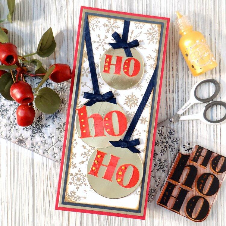 Ho Ho Ho Ornaments