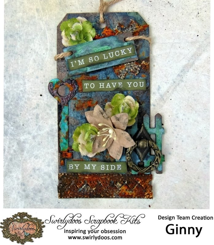 Altered Tag **Swirlydoos August 'Tranquillity' Kit**