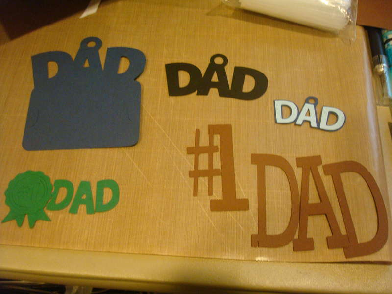 May/June Die Cut swap-Father's Day