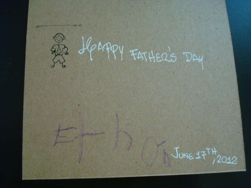 Father's Day Card (Back)