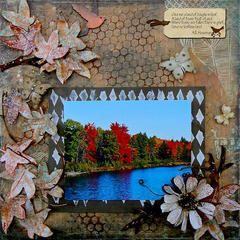 Autumn ~Paper Mixing Bowl & Scraps of Darkness