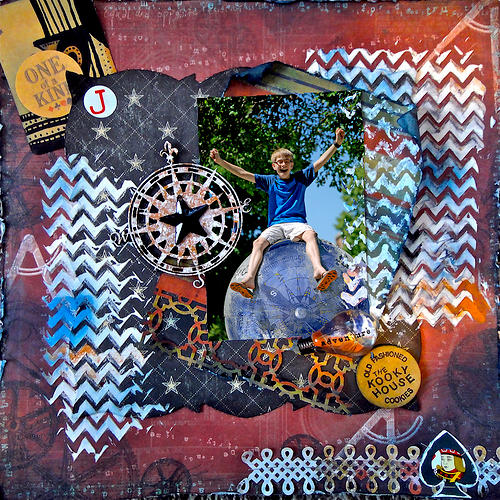 On Top of the World: Punky Scraps Challenge 55 & ~Scraps of Darkness