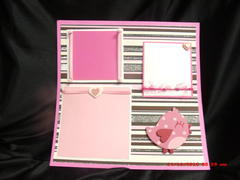 Hearts and ribbon premade 12x12 pages