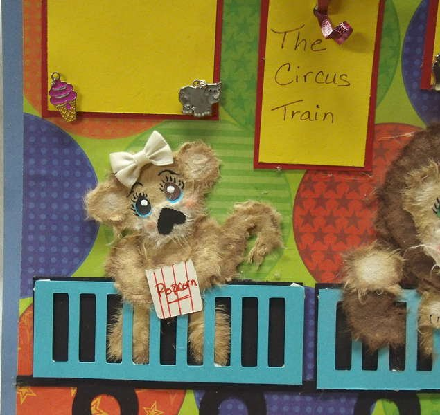 """Circus Train """"Tare Animals"""" scrapbook pages"""