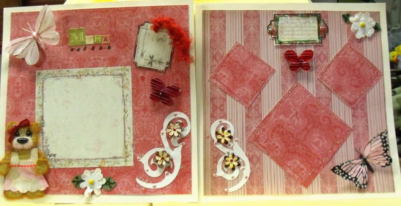 Tare Bear Pink 12x12 pages