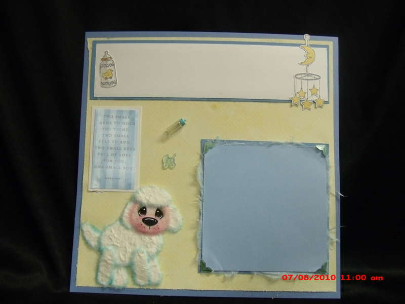 Good night Tare Sheep 12x12 premade scrapbook pages
