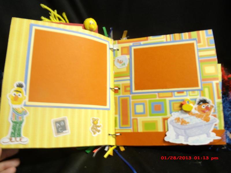 Sesame Street paperbag mini album 8x8