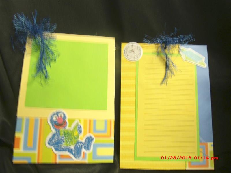 Seasme Street paperbag mini album 8x8