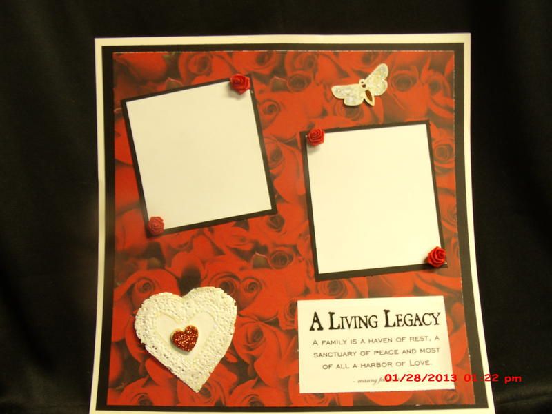 A living legacy 12x12 layout