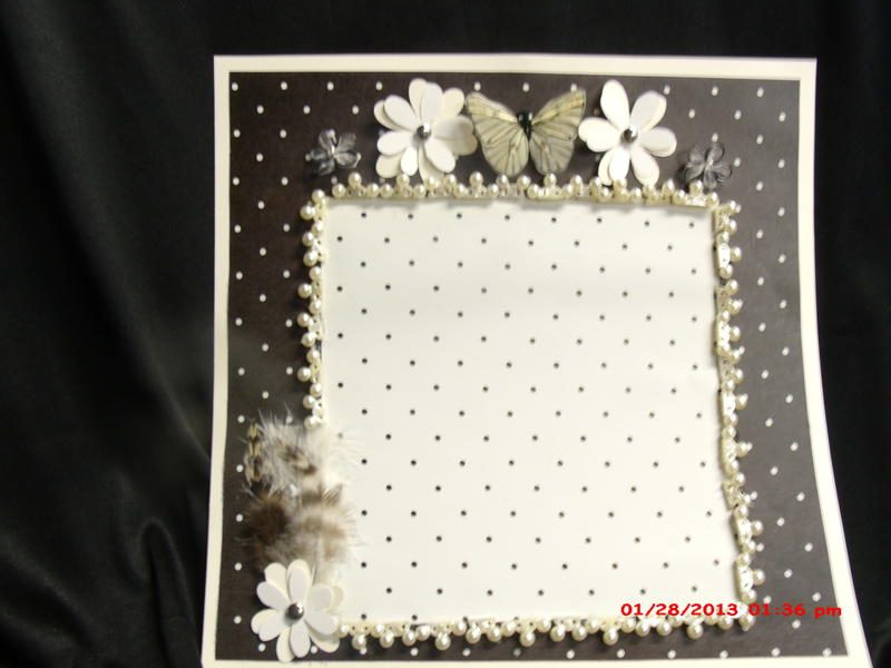 Poke a dot and feathers 12x12 layout