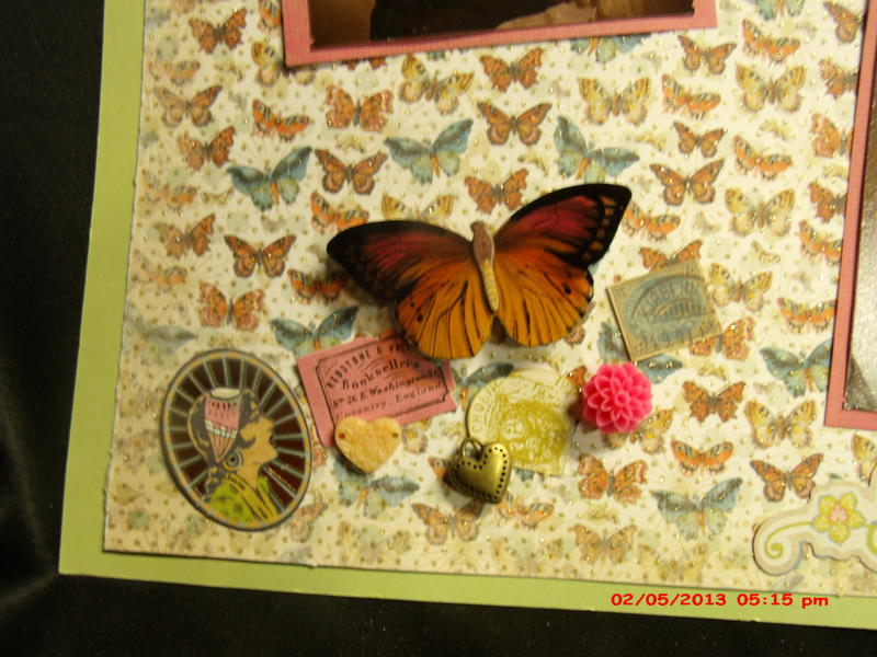 Pink orange and lime green challenge layout