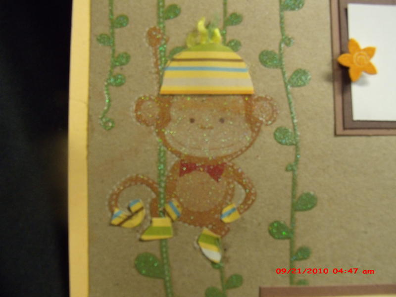 Tare Sock Monkey premade 12x12 scrapbook pages