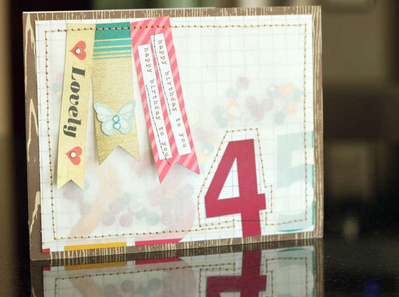 *Elle's Studio* 4th Birthday Card