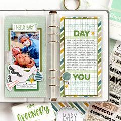 Birth Day Traveler's Notebook Spread