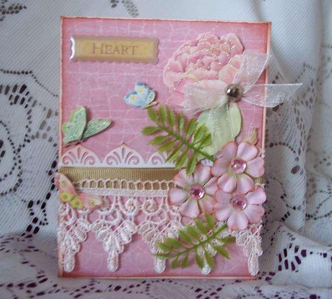 """Bashful Pink """"Heart"""" Card"""