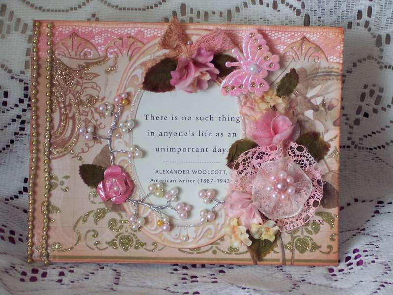 Mariposa Blossoms of Pink Card