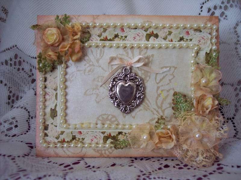 Vintage Creme of Pearls Card