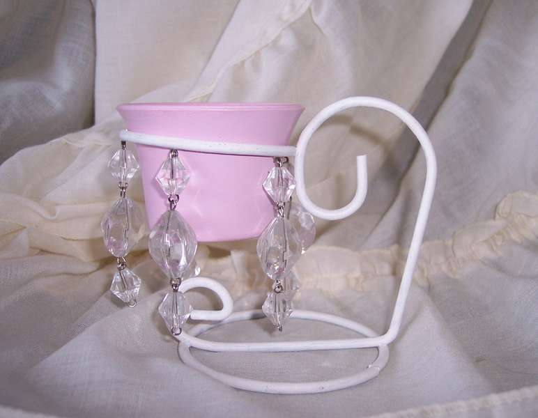Shabby Chic Altered Candle Holder
