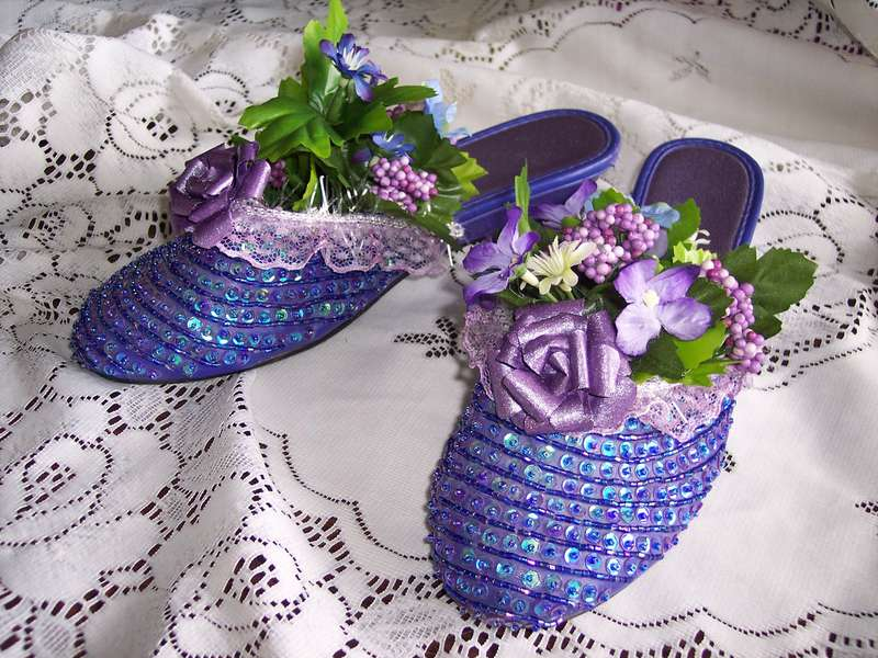 A Romantic Step**Altered Purple Slippers