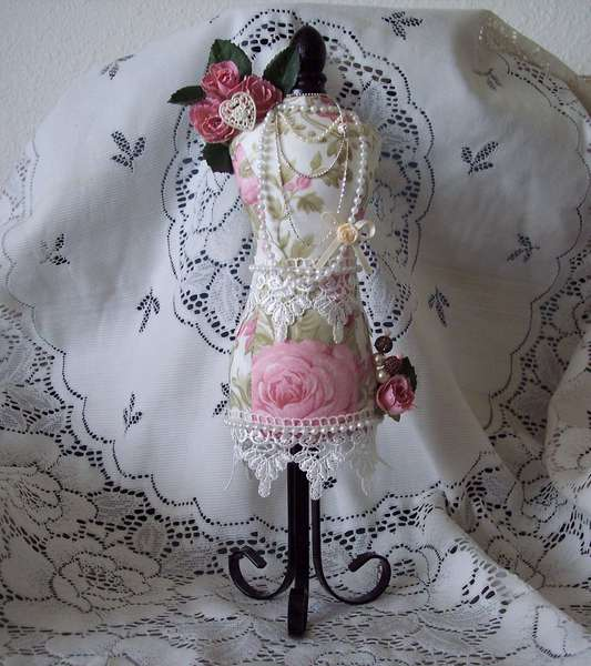 Shabby Chic**Altered Pin Cushion Mannequin