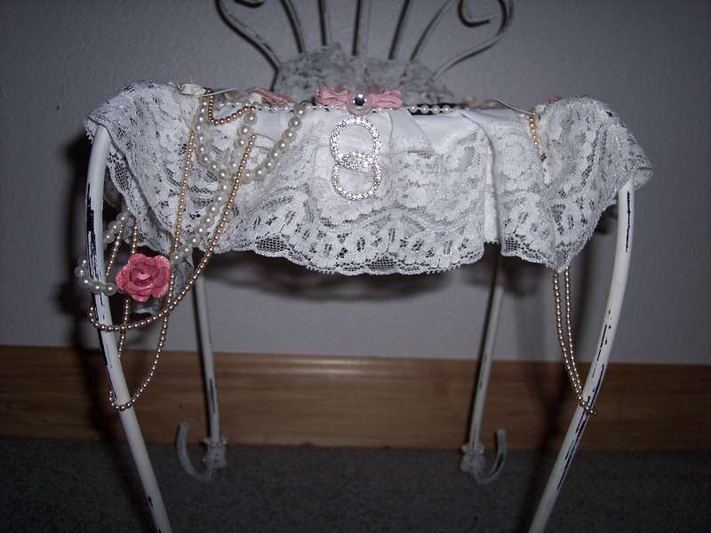 Shabby Chic**Altered Metal Chair
