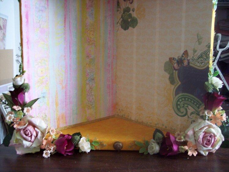 Romantic Chic**Altered Wooden Corner Shelf