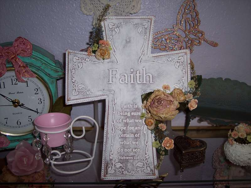 Shabby Chic**Altered Faith Plaque