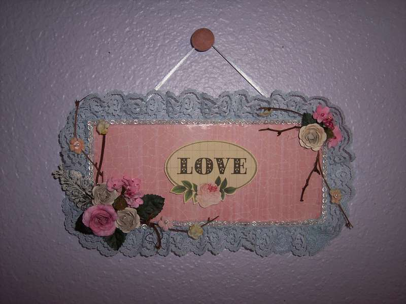 Shabby Chic**Altered $1.00 Plaque