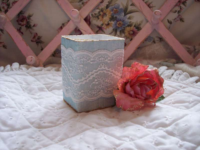 Shabby Chic**Altered Pencil Holder
