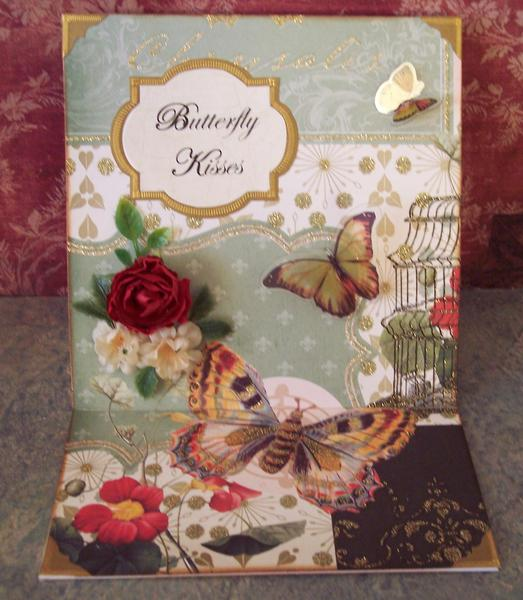 Butterfly Kisses Easel Card