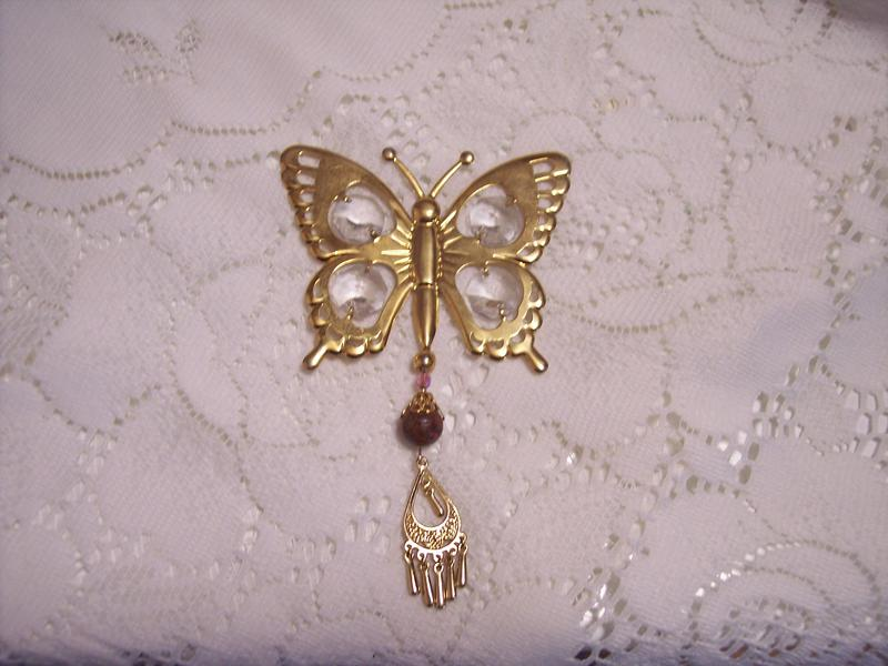 Victorian Chic**Altered Golden Butterfly