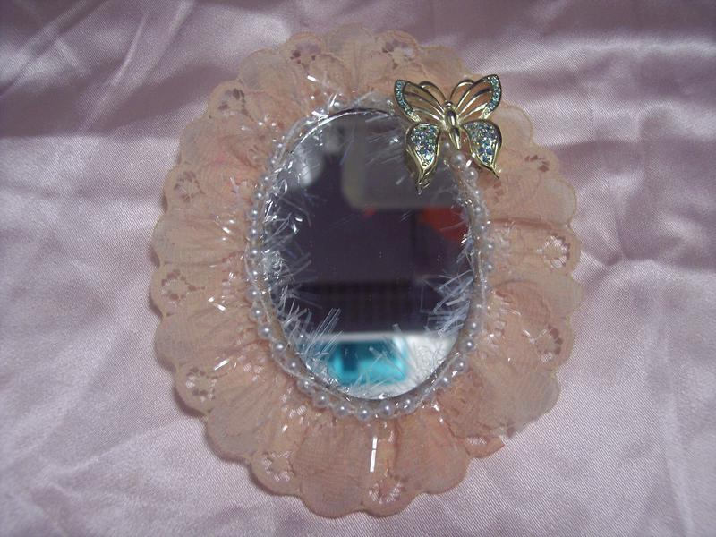 Shabby Chic**Altered Mini Mirror