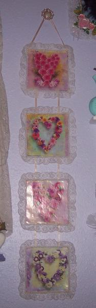 Shabby Chic**Altered Calendar Page Wall Hanger