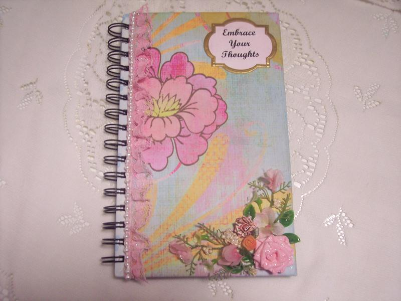 Shabby Chic**Altered Notebook**Embrace Your Thoughts