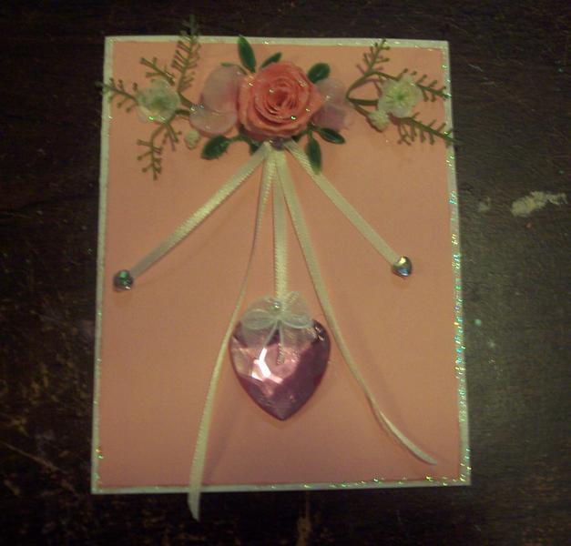 Shabby Chic Baby Girl Card