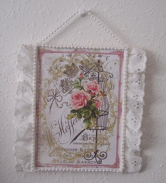 Shabby Chic**Altered Wood Square