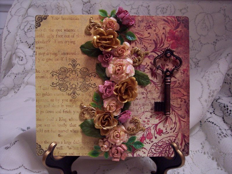 Victorian Chic**The Key to Love Plaque