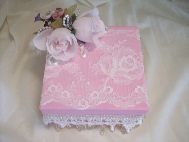 Shabby Chic**Altered Box*Top View