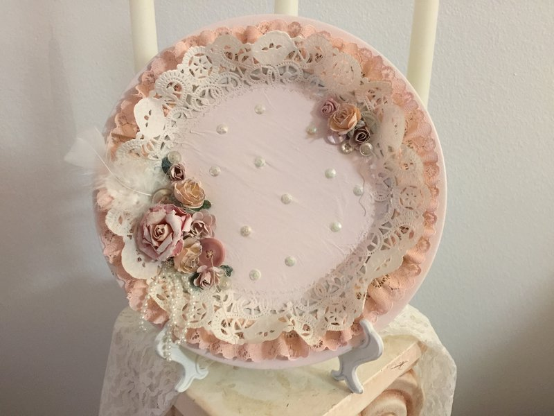 Shabby Chic**Altered Plate