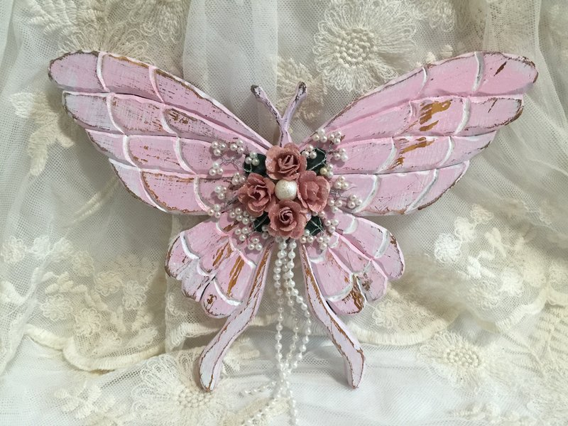 Shabby Chic**Altered Wooden Butterfly