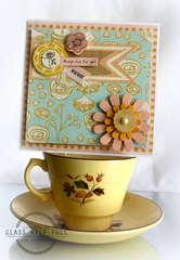Sweet card * Basic Grey* paper cottage