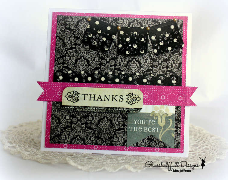 *Basic Grey* Little Black Dress THANKS card!