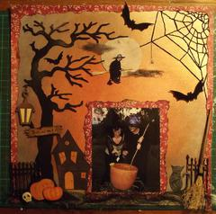 Witches.  for ' Oct Stitching ' challenge