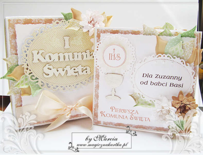 First Communion Card & Box